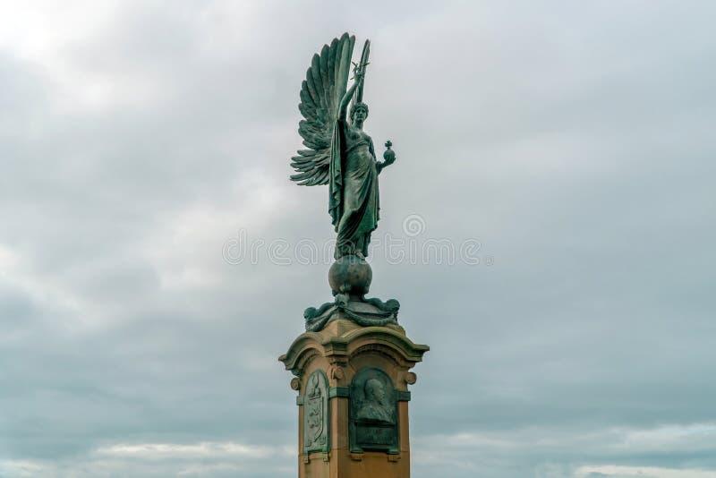 Statua di pace, anche un memoriale ad Edward VII a Brighton e Hove, Regno Unito immagine stock libera da diritti