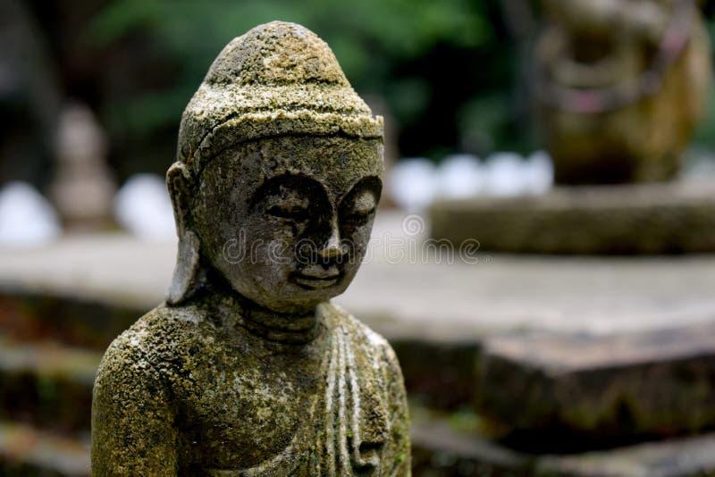 Download Statua Di Pietra Di Buddha Con La Fine Del Muschio Su Fotografia Stock - Immagine di percorso, religione: 56880742