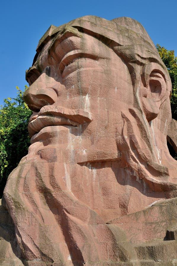 Statua di pietra di Wu Daozi fotografia stock