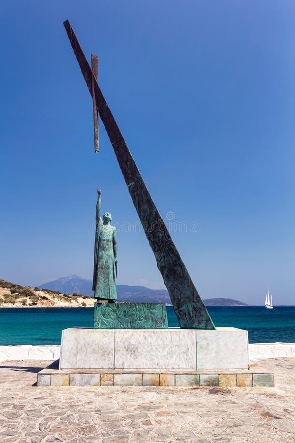 Statua di Pitagora, Samos, Grecia immagini stock