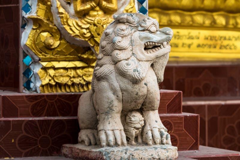 Statua di Pixiu, mascotte animale fortunata cinese fotografie stock