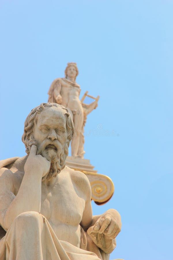 Statua di Platone dall'accademia di Atene immagini stock