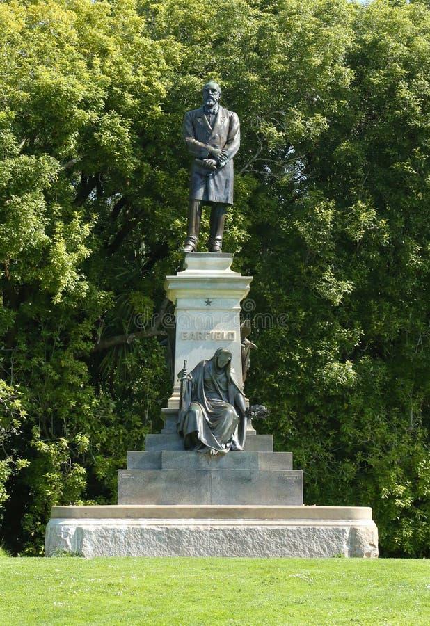 Statua di presidente James Garfield vicino al museo di De Young in Golden Gate Park immagine stock libera da diritti