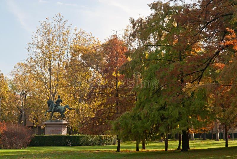 Statua di re di Vittorio Emanuele II dell'Italia fotografia stock