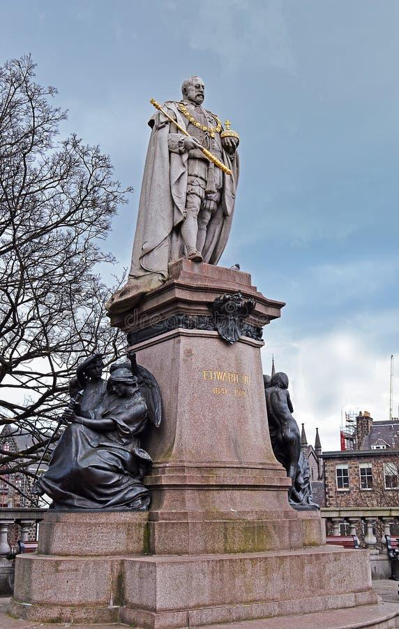 Statua di re Edward VII, Aberdeen, Scozia immagine stock