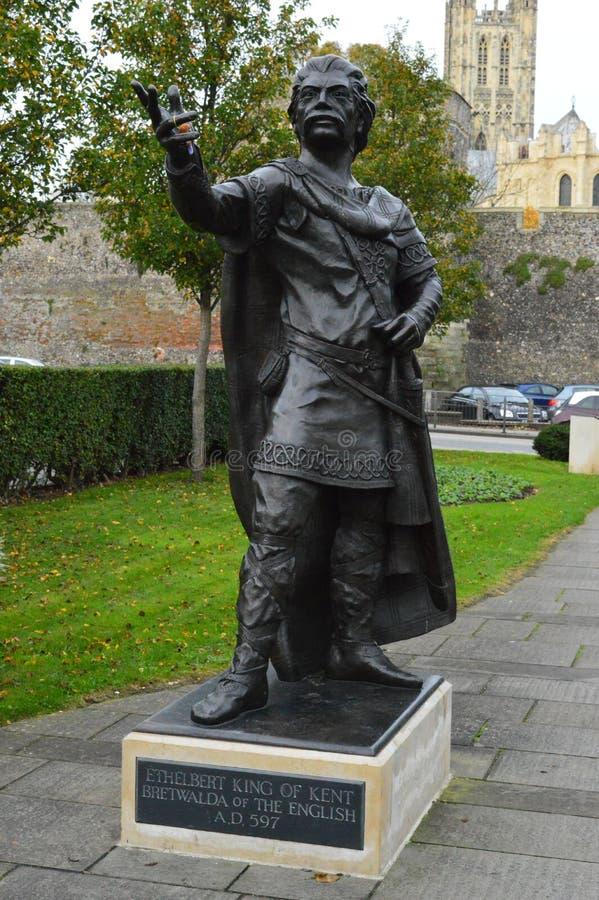 Statua di re Ethelbert fotografia stock