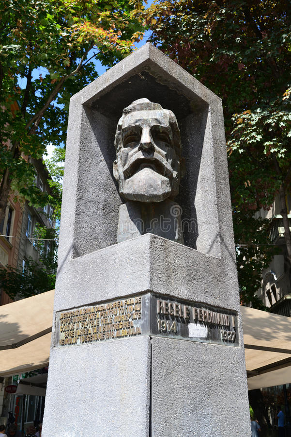 Statua di re Ferdinand di Timisoara fotografia stock