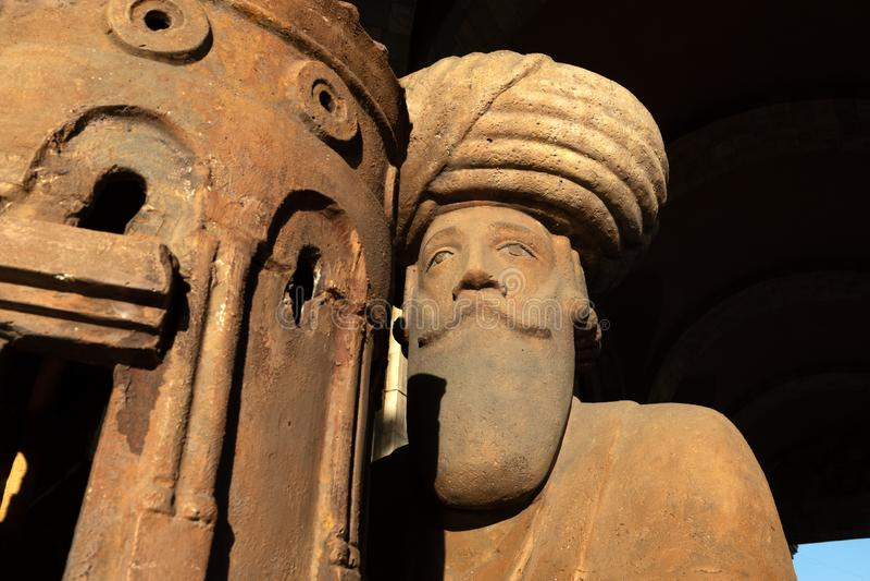 Statua di re Gagik a Yerevan, Armenia immagini stock libere da diritti