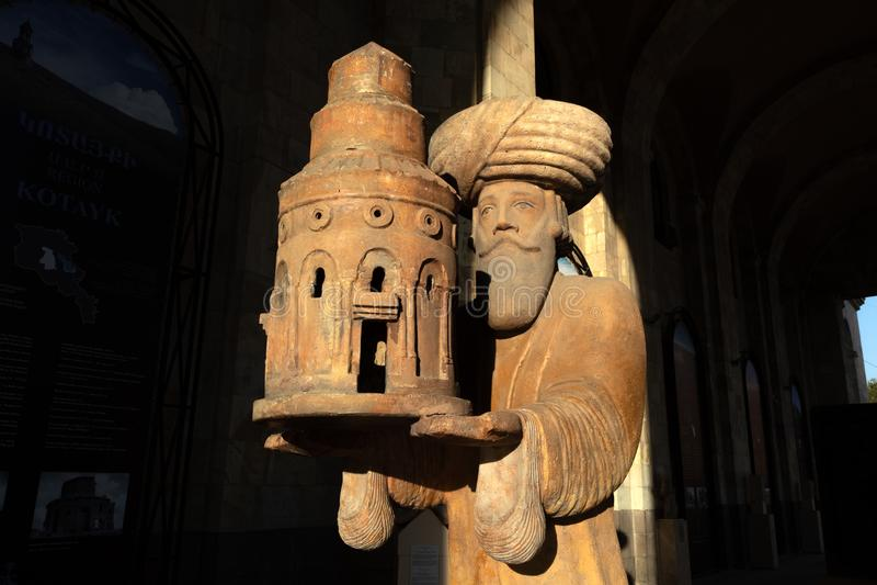 Statua di re Gagik a Yerevan, Armenia fotografie stock