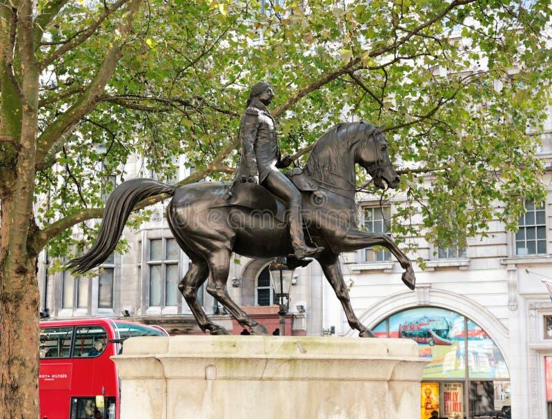 Statua di re George III fotografia stock libera da diritti