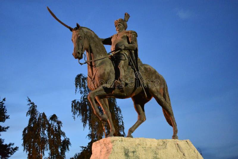 Statua di re Jan Sobieski fotografia stock