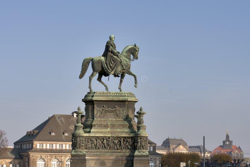 Statua di re Johann (1801-1873) a Dresda. fotografia stock libera da diritti