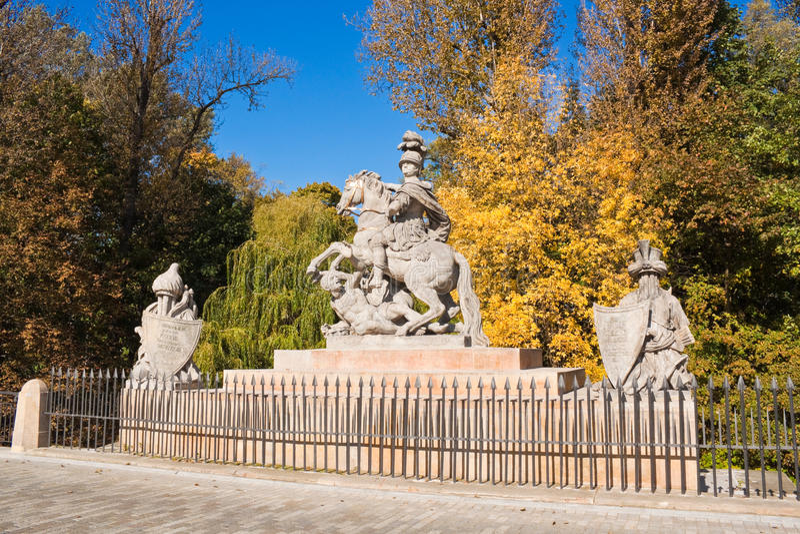 Statua di re polacco Jan III Sobieski immagine stock libera da diritti