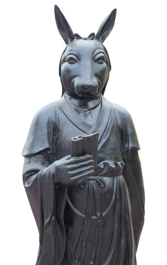 Statua di religione in tempio cinese fotografia stock libera da diritti