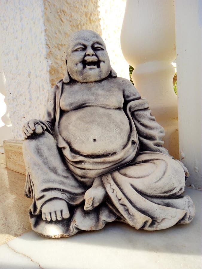 Statua di risata del Buddha fotografie stock
