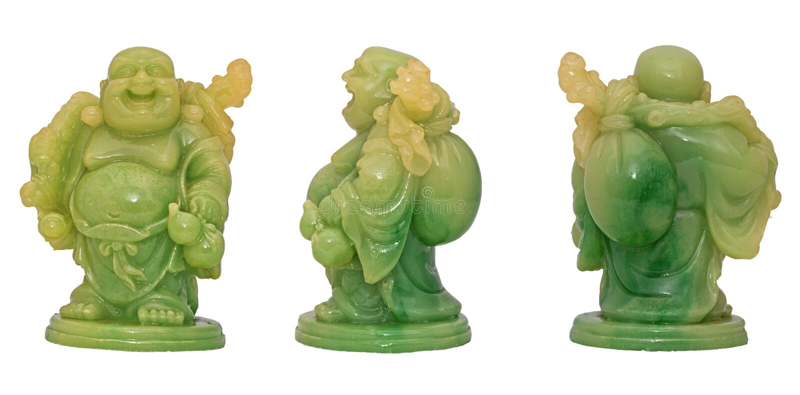 Statua di risata di Budda fotografia stock libera da diritti