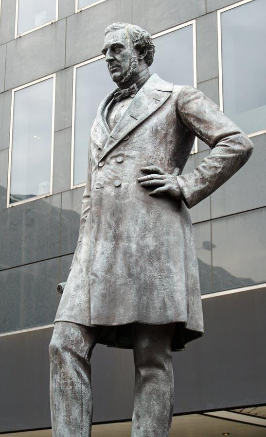 Statua di Robert Stevenson, Euston, Londra fotografia stock libera da diritti