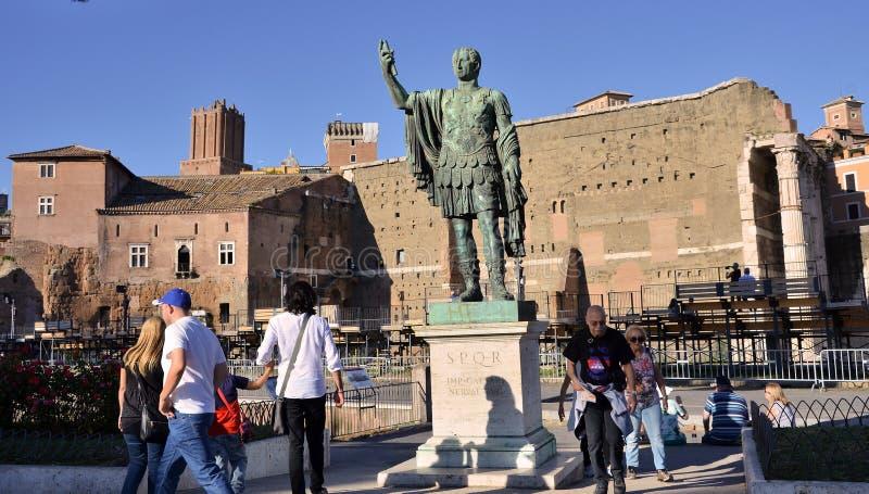 Statua di Roman Emperor immagine stock