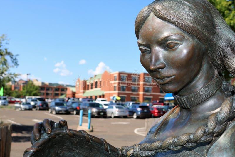 Statua di Sacagawea fotografie stock