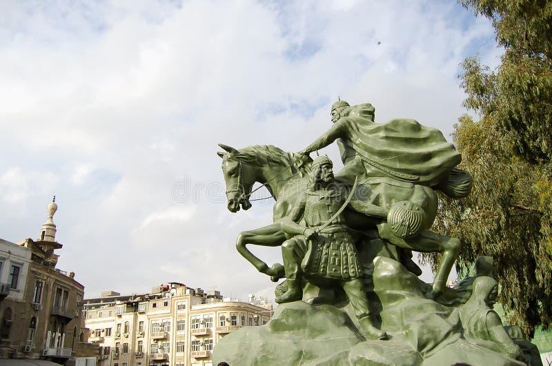 Statua di Saladino - Damasco - la Siria immagini stock libere da diritti
