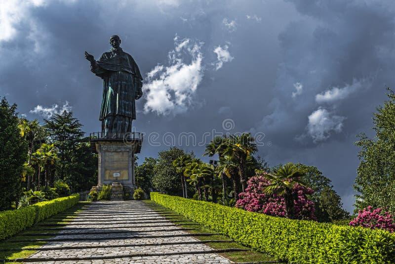 Statua di San Carlo, Arona immagini stock