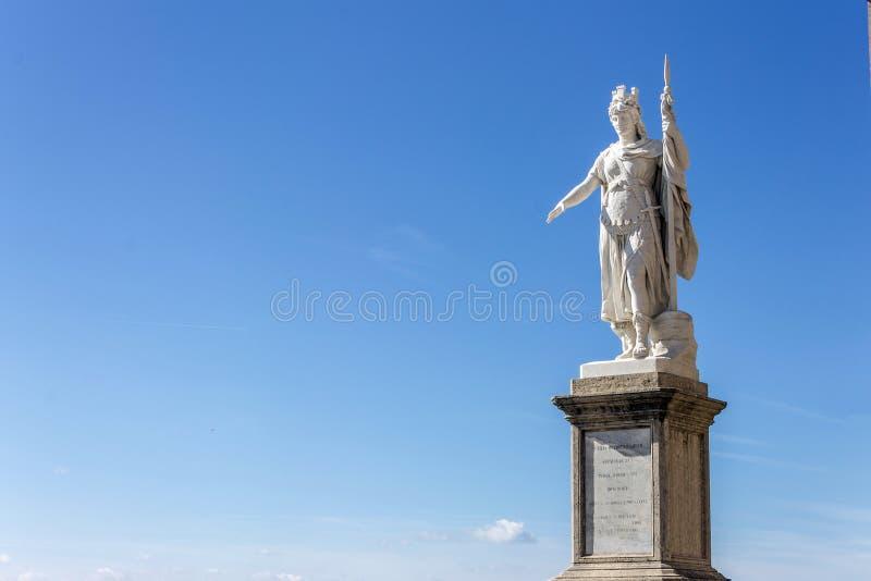 Statua di San Marino immagini stock libere da diritti
