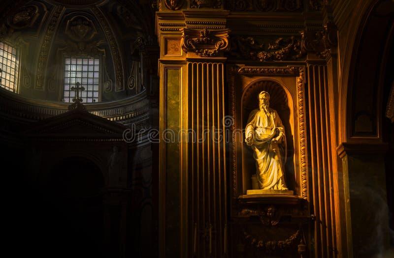 Statua di San Paolo fotografie stock libere da diritti