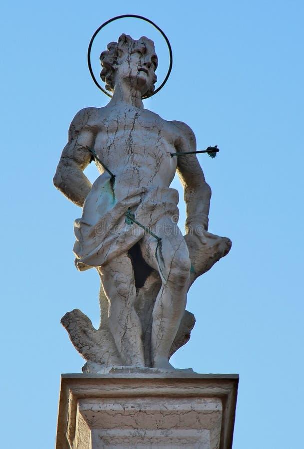 Statua di San Sebastian fotografia stock libera da diritti