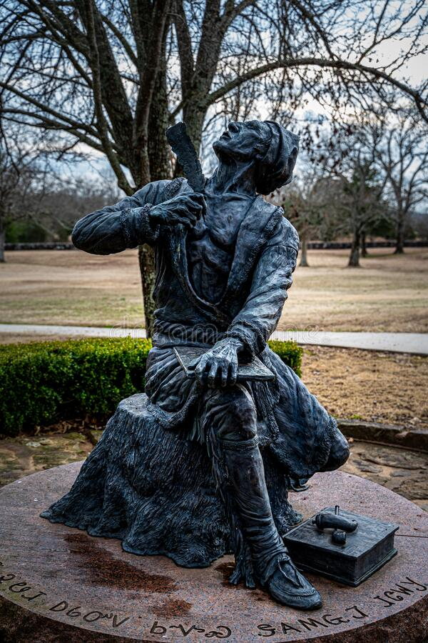 Statua di Sequoyah fotografia stock