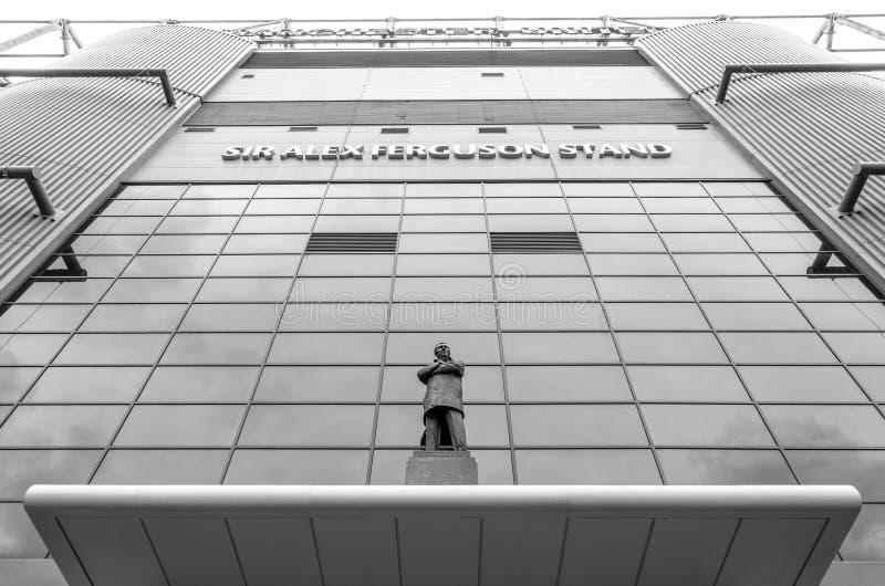 Statua di Sir Alex Ferguson a vecchio Trafford fotografia stock