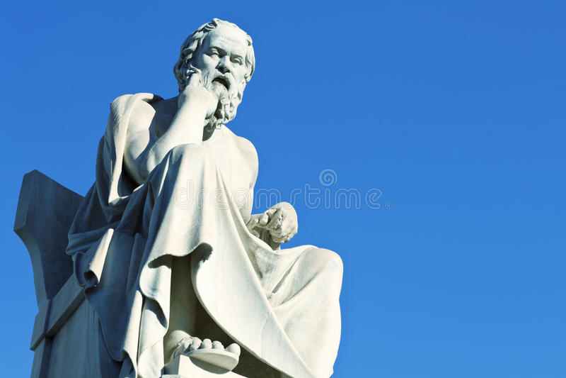 Statua di Socrates fotografie stock
