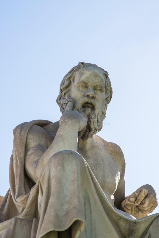 Statua di Socrates fotografie stock libere da diritti