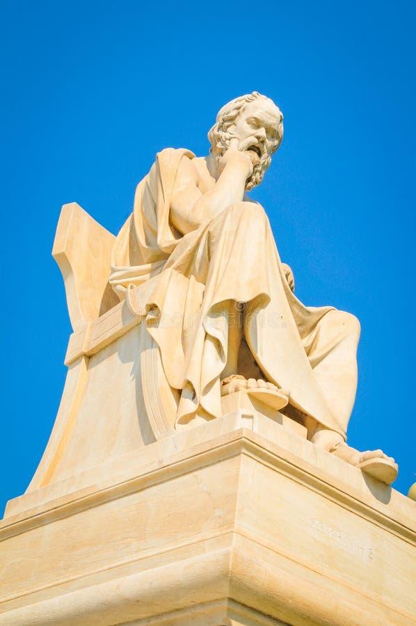 Statua di Socrates fotografia stock