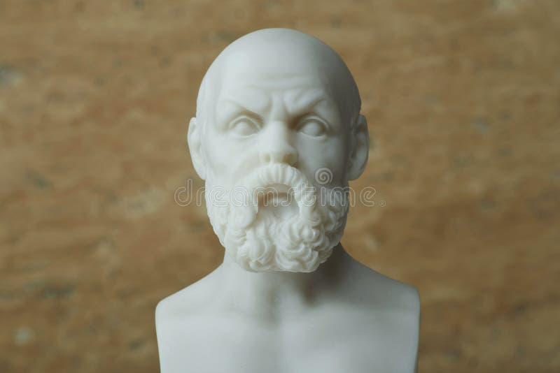 Statua di Socrates, filosofo del greco antico fotografia stock libera da diritti