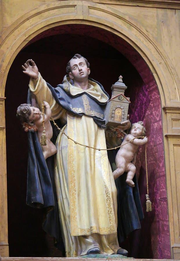 Statua di St Dominic a Salamanca fotografia stock libera da diritti