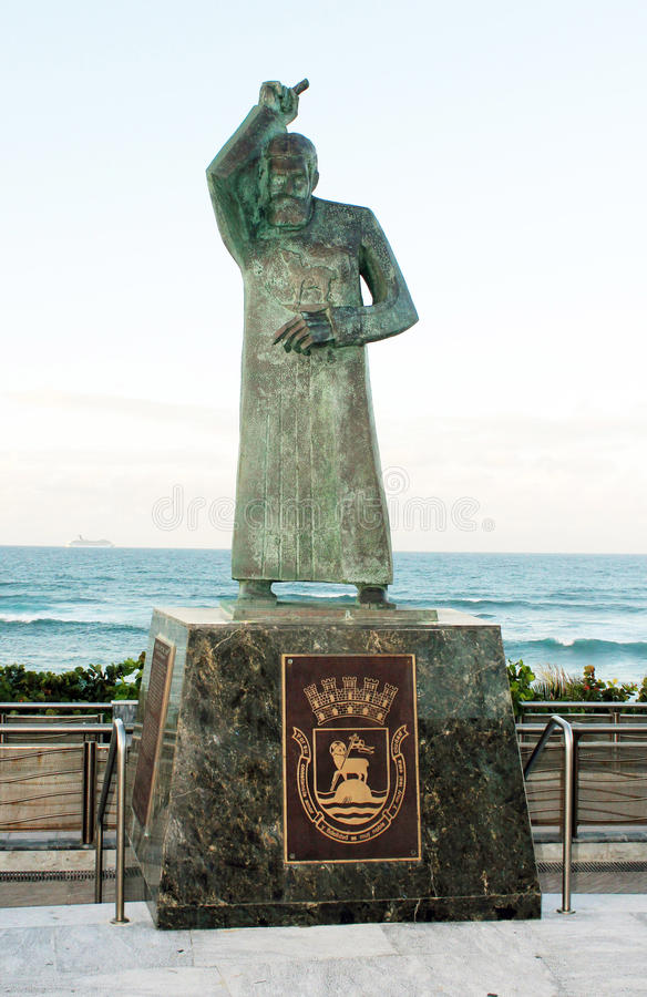 Statua di St John, San Juan, Porto Rico fotografie stock