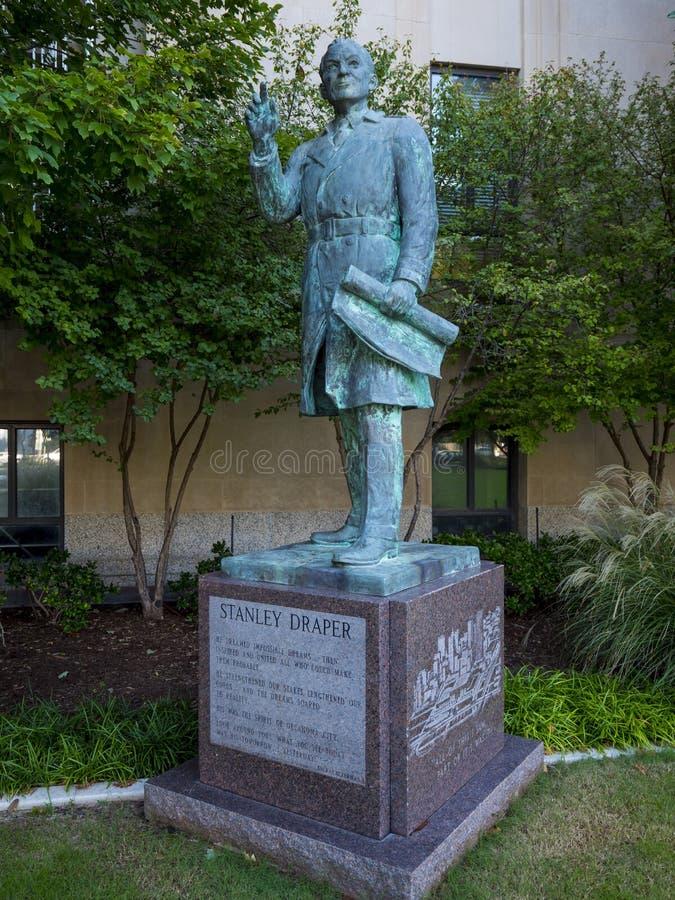 Statua di Stanley Draper a Oklahoma City immagine stock libera da diritti