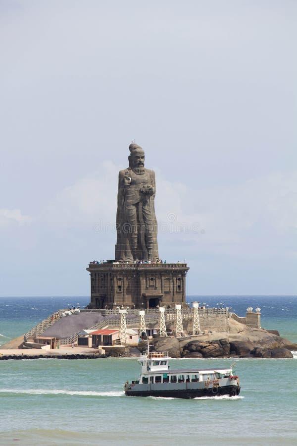 Statua di Thiruvalluvar al kanyakumari fotografia stock libera da diritti