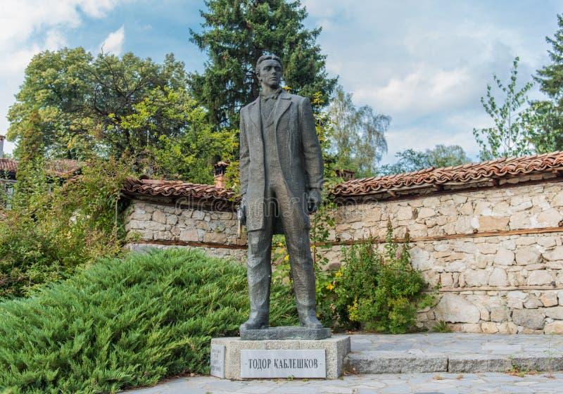 Statua di Todor Kableshkov, rivoluzionario bulgaro fotografia stock libera da diritti
