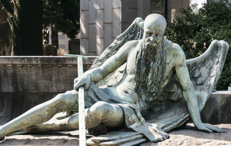 Statua di un angelo fotografia stock