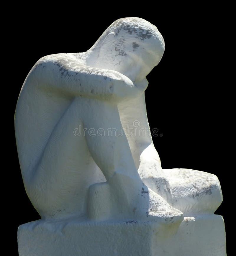 Statua di un filosofo immagine stock