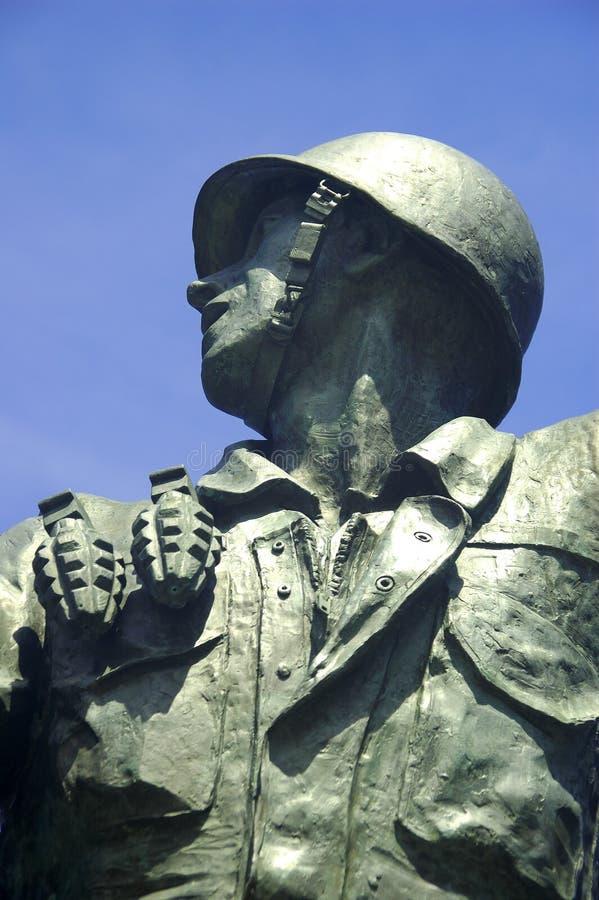 Statua di un soldato fotografia stock