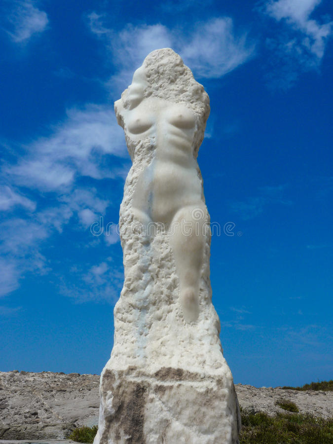 Statua di una donna nuda immagini stock