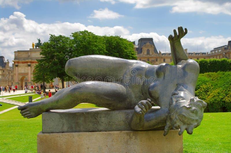 Statua di una donna nuda, Aristide Maillol, Parigi immagine stock