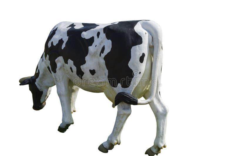 Statua di una mucca Mucca da latte fotografia stock