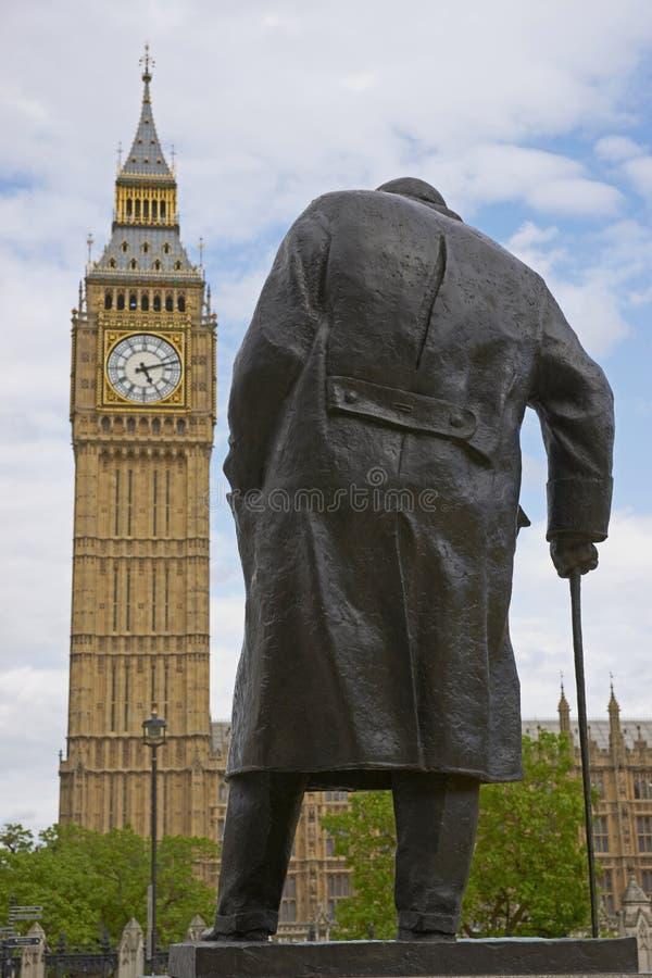 Statua di Winston Churchill fotografia stock