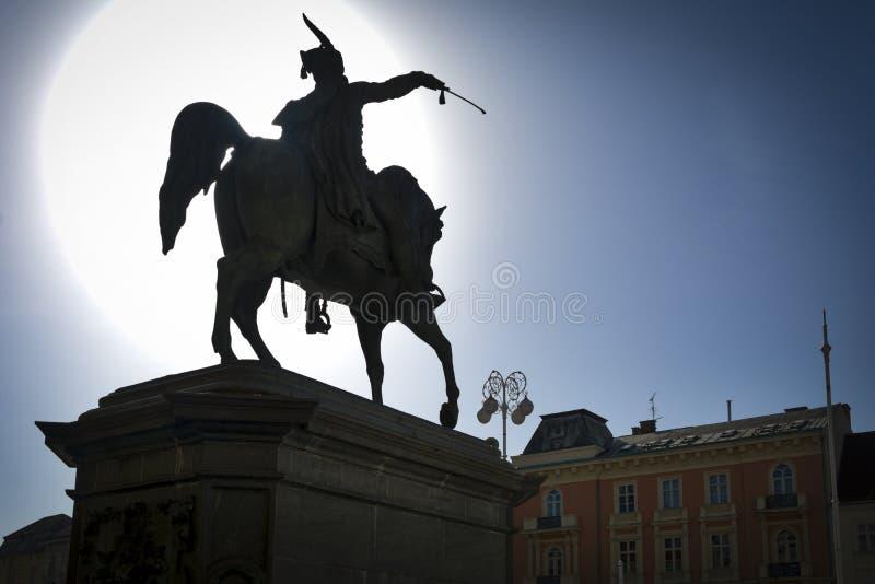 Statua di Zagabria immagini stock libere da diritti