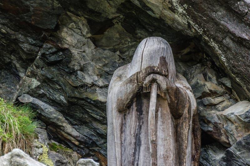 statua drewniany szczegół zdjęcia royalty free