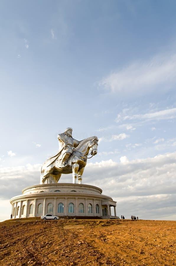 statua duży chinghiskhan światy obraz stock