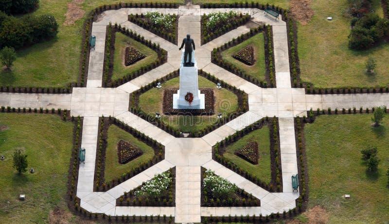 Statua e tomba lunghe della Luisiana Huey P fotografie stock libere da diritti